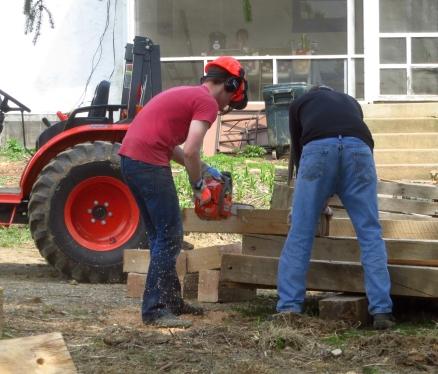 Chain saw lesson